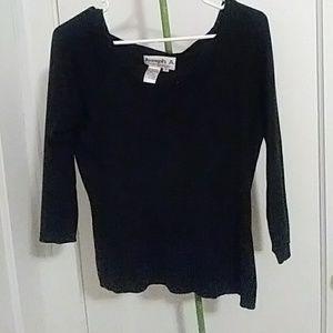 Knit silk shirt